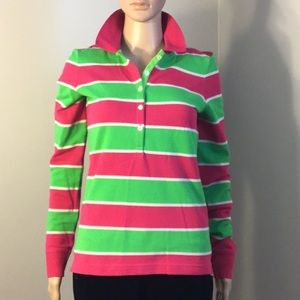 LILLY PULITZER : LONG-SLEEVE RUGBY SHIRT, sz M